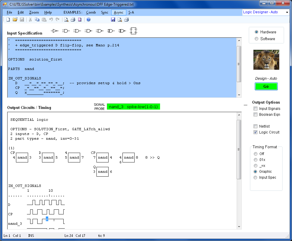 Automatic Logic Design Software