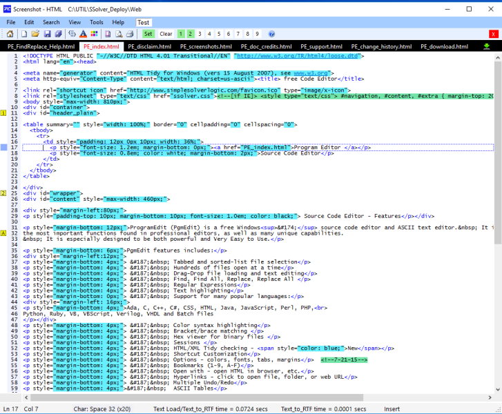 ProgramEdit screenshot